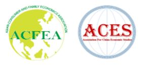 The Joint Conference of  the 13th Biennial Virtual Conference of Asian Consumer and Family Economics Association (ACFEA)  and the 2020 International Virtual Conference of Association for China Economic Studies (ACES)